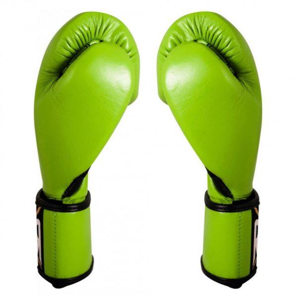 Guantes entrenamiento de piel de res en verde limón