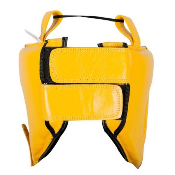 Protector de cabeza barra nylon 100% auténtica piel, amarillo