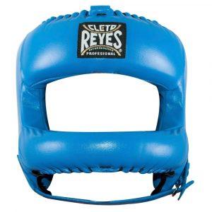 Protector de cabeza barra nylon 100% auténtica piel, azul