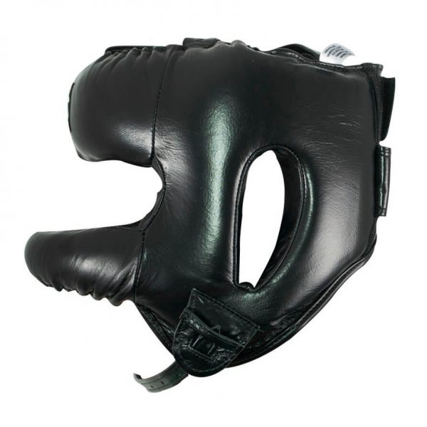 Protector de cabeza barra nylon 100% auténtica piel, negro