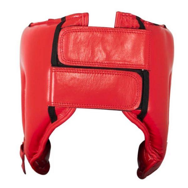 Protector de cabeza barra nylon 100% auténtica piel, rojo