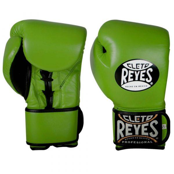 Guantes de entrenamiento de boxeo verdes