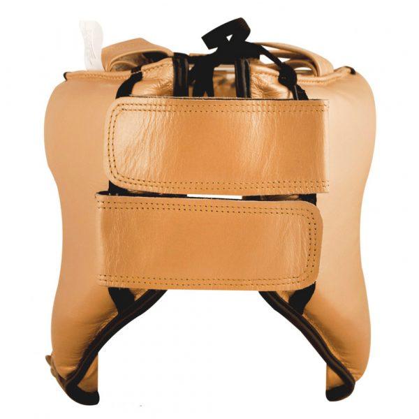 Protector de cabeza barra nylon 100% auténtica piel, dorado