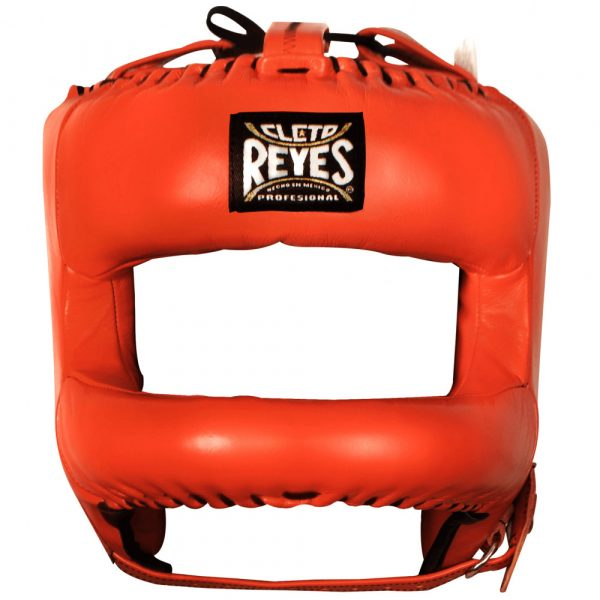 Protector de cabeza barra nylon 100% auténtica piel, naranja