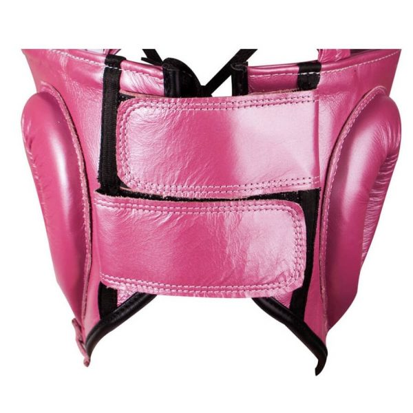 Protector de cabeza tradicional 100% auténtica piel, rosa