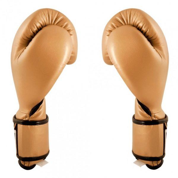 Guantes de entrenamiento de boxeo dorados
