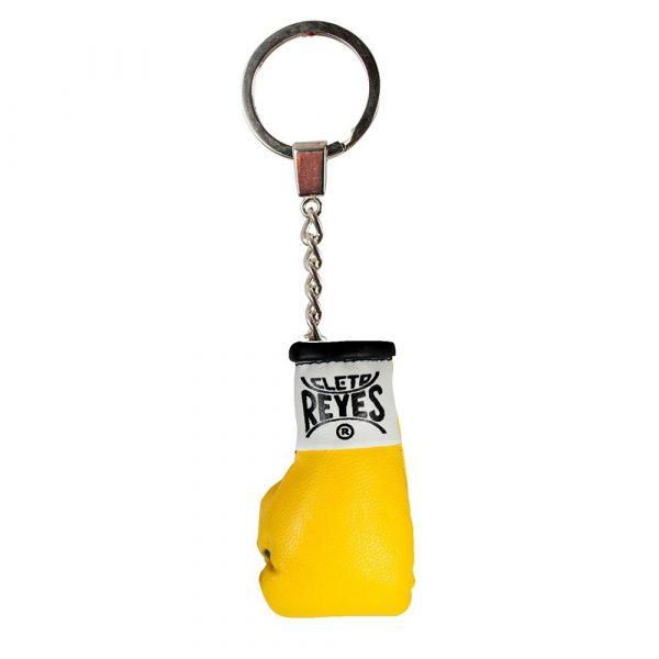 Llavero con guante en miniatura, amarillo