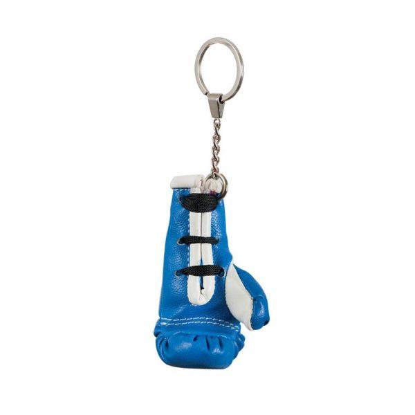 Llavero con guante en miniatura, azul