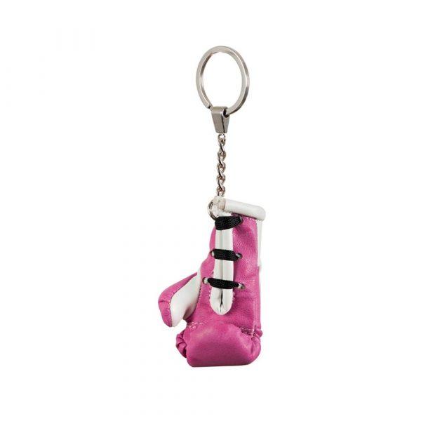 Llavero con guante en miniatura, rosa