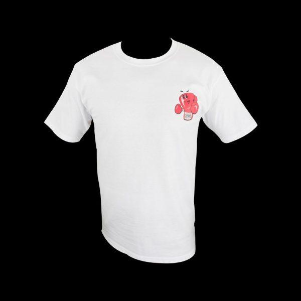 Camiseta de algodón con logo impreso, blanco
