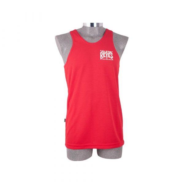 Camiseta olímpica de poliester rojo