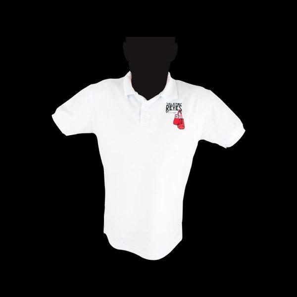 Camiseta tipo polo blanco