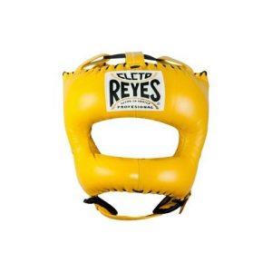 Protector de cabeza tradicional 100% auténtica piel, amarillo