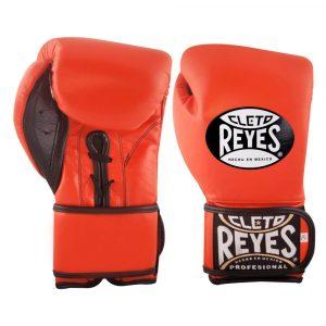Guantes de entrenamiento de boxeo naranjas